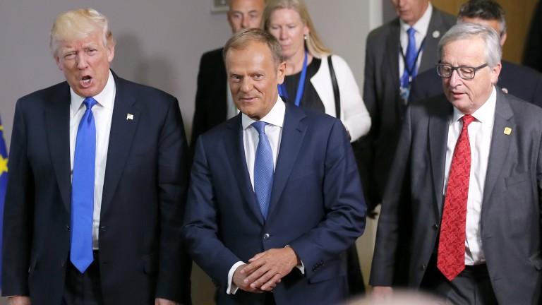 Брюксел и Тръмп се разминават по Русия, климата и световната търговия