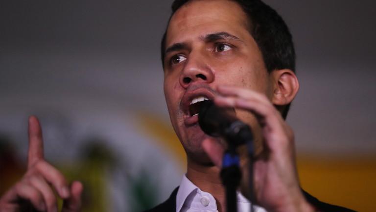 Ръководителят на опозицията на Венецуела и самопровъзгласен лидер Хуан Гуайдо
