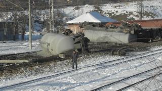 9 вагона на товарен влак дерайлираха на гарата в Дупница