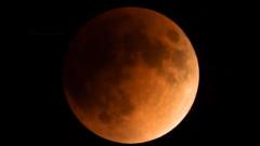 Кървавата синя супер Луна на живо