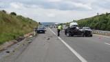 Катастрофа на пътя София-Варна, има ранен