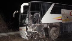 """Трима чужденци пострадаха при катастрофа с автобус на АМ """"Тракия"""""""