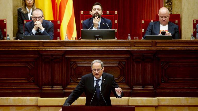 Лидерът на Каталуния заяви, че ще трябва да се проведе