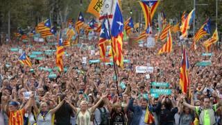 450 000 каталунци на протест срещу испанските власти