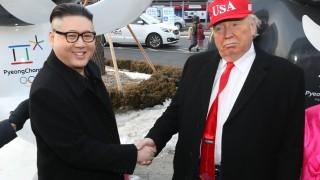 """""""Тръмп"""" и """"Ким Чен-ун"""" се срещнаха на Олимпиадата и призоваха за мир"""
