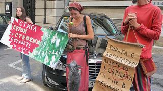 Еколози протестираха пред сградата на ЕК в София