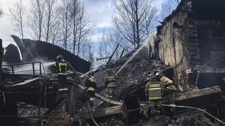Седемнадесет души са загинали в резултат на пожар в руска