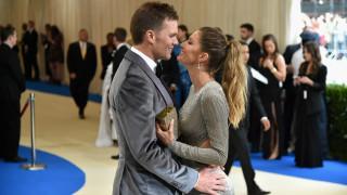 Жизел Бюндхен и Том Брейди празнуват девет години брак