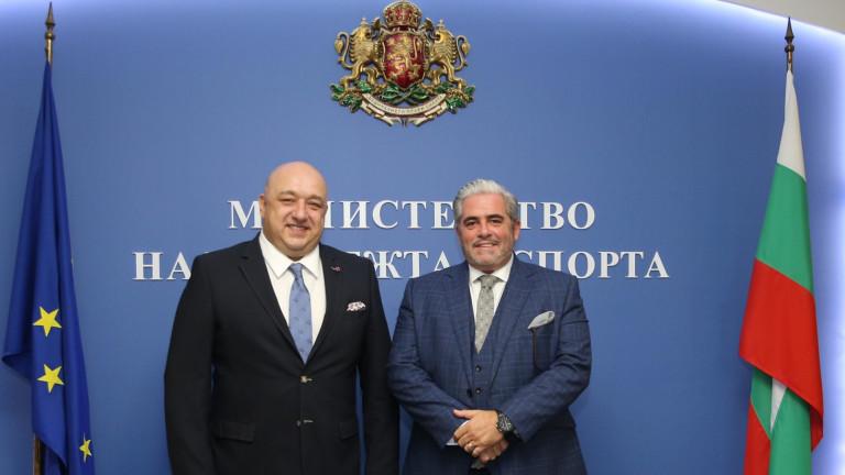 Министър Кралев проведе среща с изпълнителния директор на Глобалния алианс