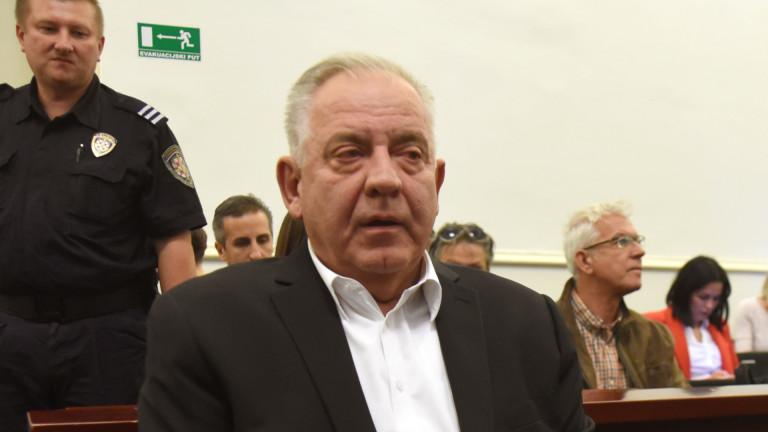 Бившият хърватски премиер Иво Санадер получи две години и половина