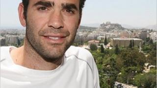 Сампрас играе с Къриър под Акропола