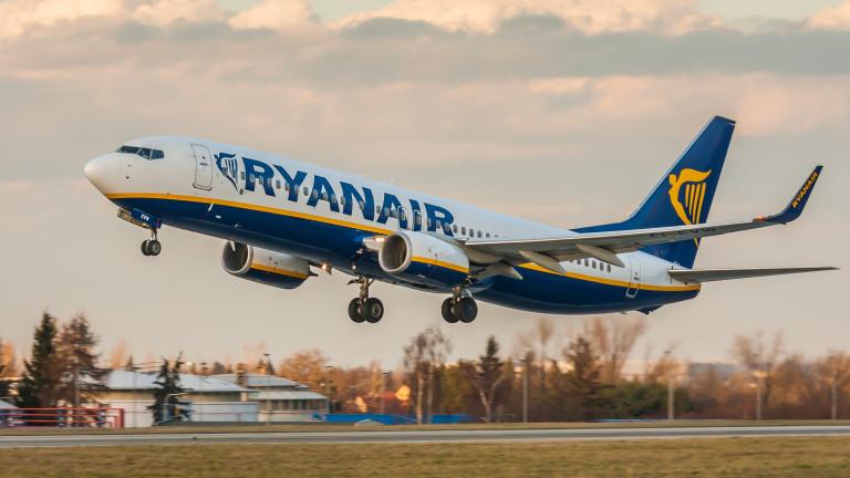 Ryanair е сред 10-те най-големи замърсители в Европа