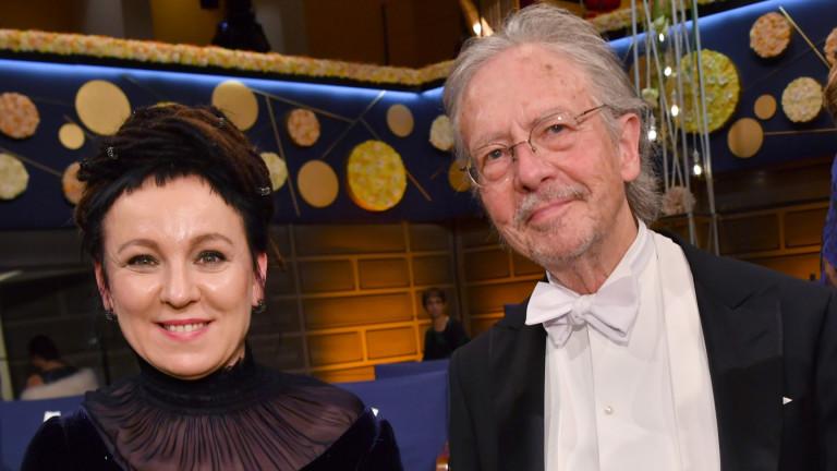 Австрийският писател Петер Хандке, получил тазгодишната Нобелова награда за литература,