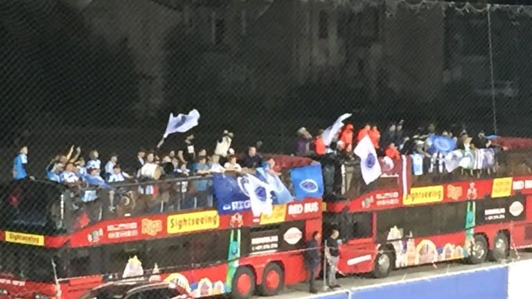 Феновете на ФК Рига намериха оригинален начин да подкрепят любимците си срещу Селтик