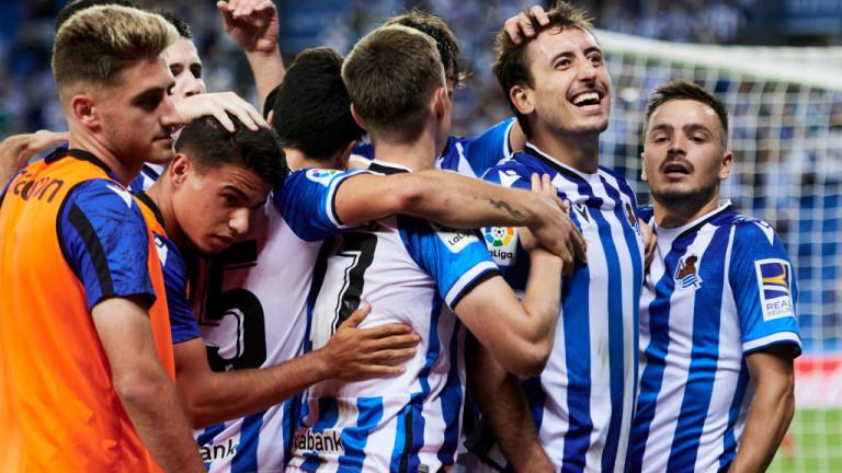Реал (Сосиедад) застана на второто място в Ла Лига след успех над Елче