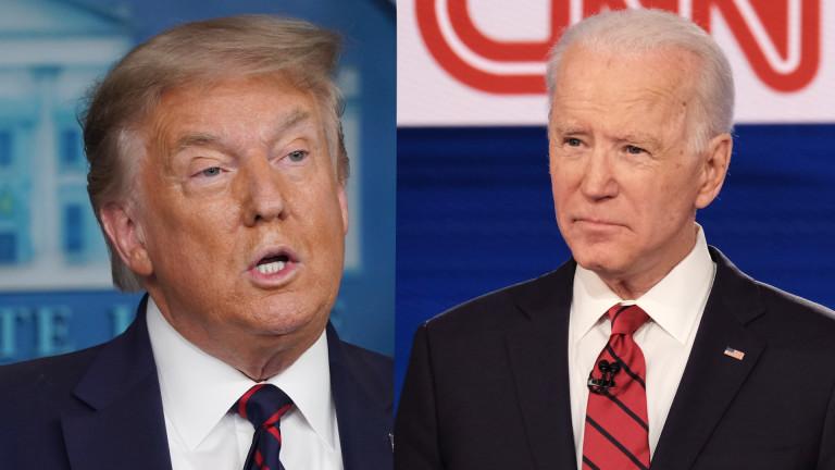 Повечето американски избиратели предпочитат Джо Байдън пред Доналд Тръмп по