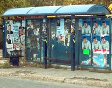 В Добрич забраниха предизборните плакати по колите на градския транспорт