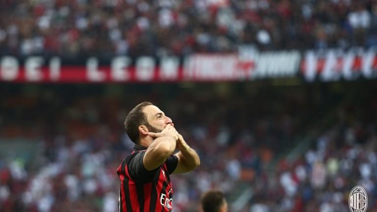 Гонсало Игуаин няма гол за Милан от два месеца, отбелязват