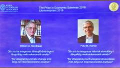 Нобелът за икономика за 2018 г. връчен за промените в климата и растежа