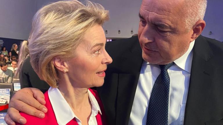 ПремиерътБойко Борисов разговаря с председателя на ЕК Урсула фон дер