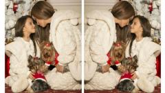 Мария направи коледна фотосесия с дъщеря си