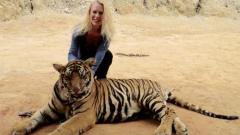 Людмила Филипова се щракна с тигри