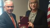 Цецка Цачева разговаря с главния прокурор на САЩ  Джеф Сешънс