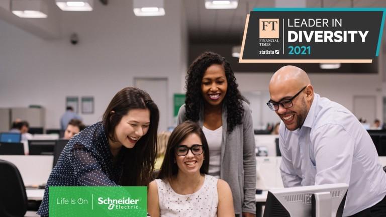 """Schneider Electric влиза в Топ 50 на класацията """"The Diversity Leaders 2021"""" на Financial Times"""