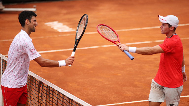Новак Джокович на полуфинал в Рим след трудна победа срещу Доминик Кьопфер
