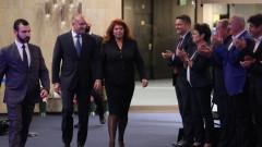 Представители на БСП, депутати и опозиция, АБВ, ИТН зад двойката Радев-Йотова