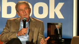 "Джордж Буш ""се продава"" чрез Facebook"