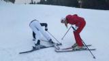 Джина Стоева и Ивена се пребиха на леда