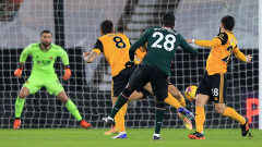 Уулвърхемптън - Тотнъм 1:1, гол на Саис в края на мача