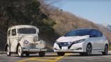 """Електромобили: Nissan Leaf и 70-годишният му """"дядо"""" (ВИДЕО)"""