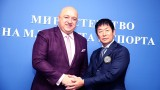 Министър Кралев се срещна с президента на Световната федерация по гимнастика