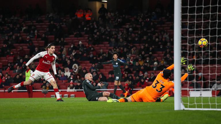 Арсенал - Манчестър Сити 0:3, Обамеянг пропусна дузпа
