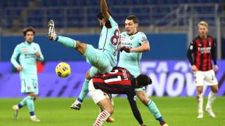 Милан изкова победата си срещу Торино през първото полувреме