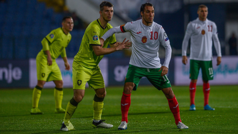 България 0 : 0 Чехия 45+1′ Първото полувреме стартира с