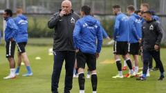 Живко Миланов тренира с основната група на Левски