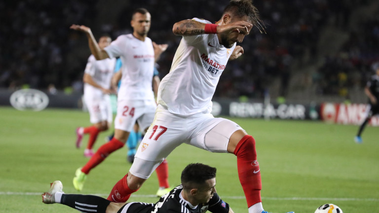 Севиля победи с 3:0 азербайджанския Карабах в първия си мач