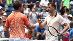 Григор Димитров - Стан Вавринка 3-6, 2-6, 5-7, българинът отпадна в първия кръг на US Open