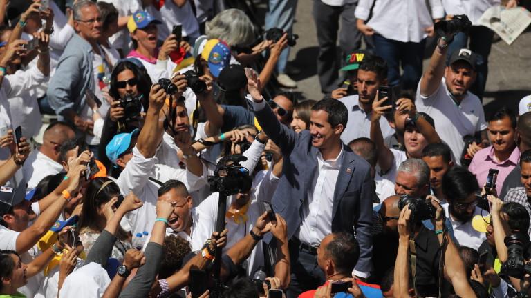 Хуан Гуайдо, председател на венецуелския парламент и самопровъзгласил се за
