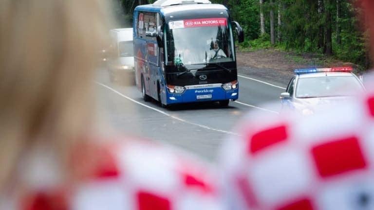 """Автобусът на хърватите потегли за """"Лужники"""""""