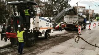 Започнаха ремонтите на основни булеварди в София