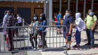Коронавирус: Километрична опашка в Женева за безплатна храна