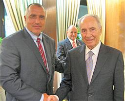 Бойко Борисов се срещна с Шимон Перес