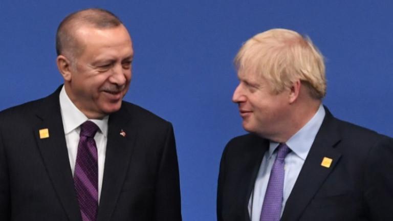 Джонсън и Ердоган договориха да работят заедно като партньори в НАТО