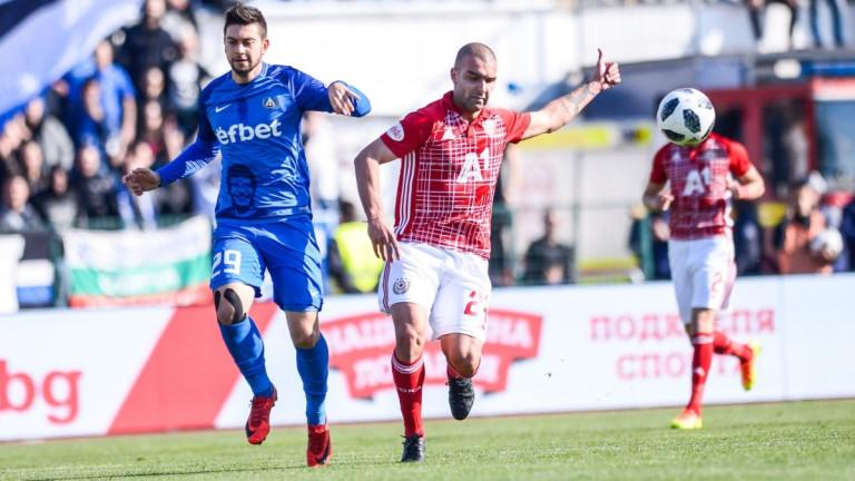 ЦСКА - Левски 0:0, греда на Слави Костов!