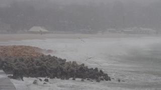 Ураганен вятър затвори летището и пристанището във Варна
