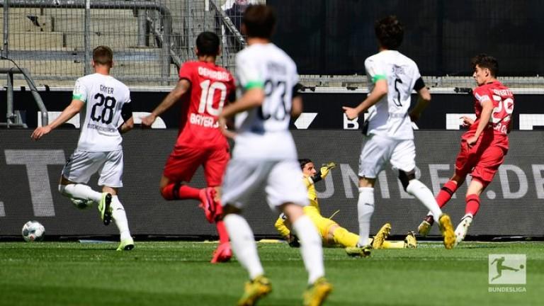 Леверкузен свали Мьонхенгладбах от Топ 3 на Германия, Хаверц с нови два гола